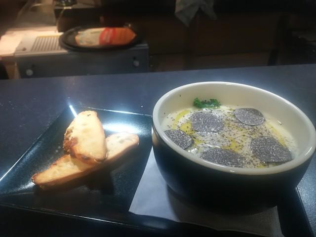 Le Bouchon du P'tit Pont La Crème de Panais, Truffe Noire Melanosporum, Chou Kale