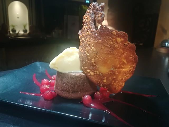 Le Bouchon du P'tit Pont Le Mi-cuit au chocolat, Caramel Beurre Salé, Groseilles